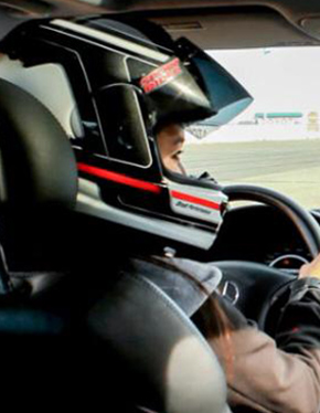 BESPOKE EXPERIENCE - berkeley red- Race Driver driving a car